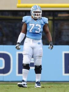 North Carolina offensive tackle Brennan Williams