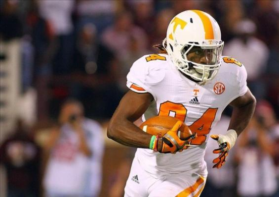 Tennessee wide receiver Cordarrelle Patterson
