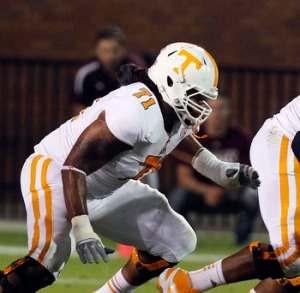 Tennessee offensive lineman Dallas Thomas